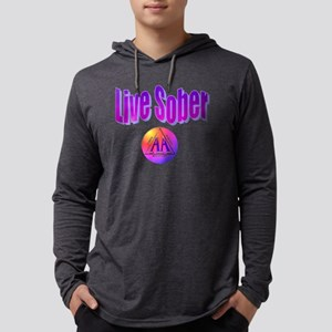 live-sober-aa Mens Hooded Shirt