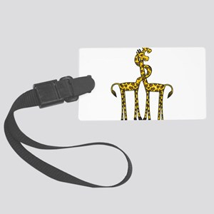 Giraffes In Love Large Luggage Tag