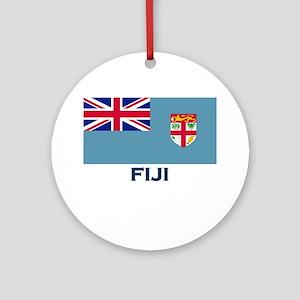 Fiji Flag Gear Ornament (Round)