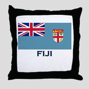 Fiji Flag Gear Throw Pillow