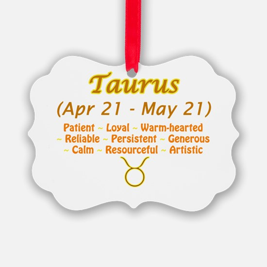 Taurus Description Ornament