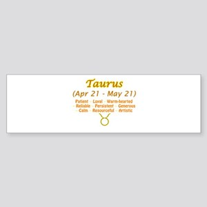 Taurus Description Sticker (Bumper)