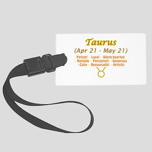 Taurus Description Large Luggage Tag
