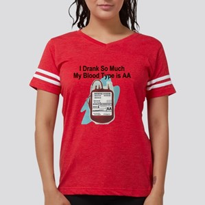 blood-type Womens Football Shirt