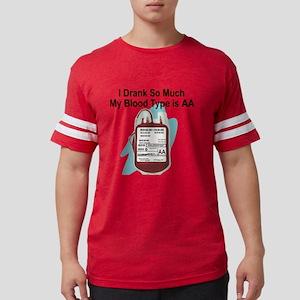 blood-type Mens Football Shirt