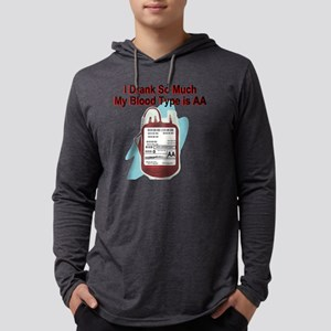 blood-type Mens Hooded Shirt