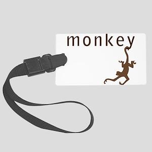 Classic Monkey Large Luggage Tag
