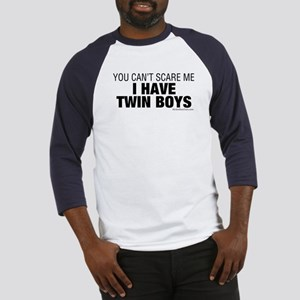 Cant Scare Have Twin Boys Baseball Jersey