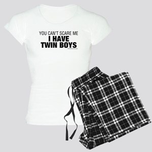 Cant Scare Have Twin Boys Women's Light Pajamas