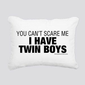 Cant Scare Have Twin Boys Rectangular Canvas Pillo