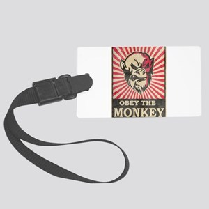 Obey The Monkey Large Luggage Tag