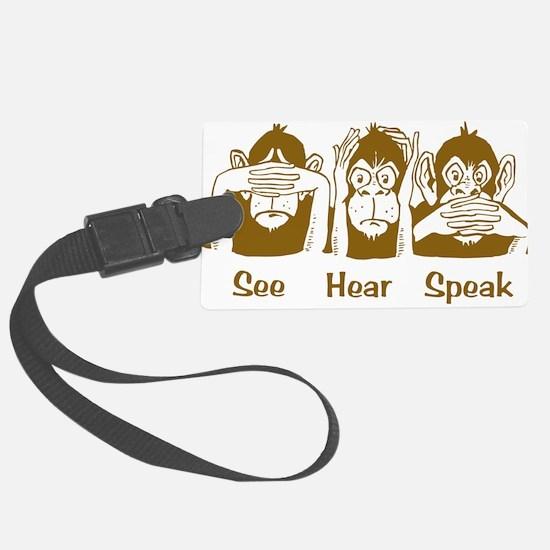 See No Evil Monkey Luggage Tag