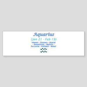 Aquarius Description Sticker (Bumper)