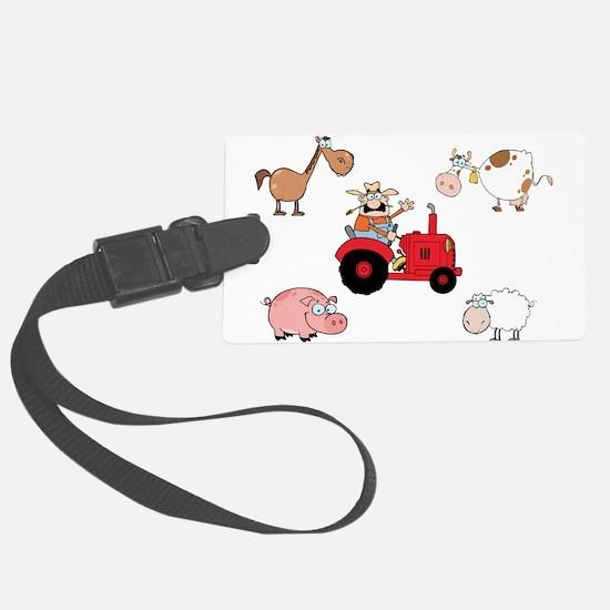 Cute Farm Animals Luggage Tag