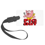Pig Out Large Luggage Tag