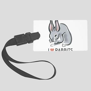 I Love Rabbits Large Luggage Tag