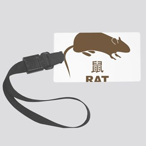 Rat Large Luggage Tag