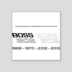 "Mustang Boss 302 Square Sticker 3"" x 3"""