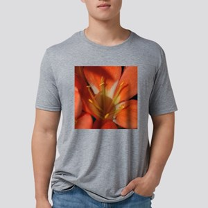 Orange and Gold Lily Tile.p Mens Tri-blend T-Shirt