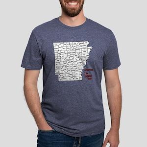 2-County Map - Black Mens Tri-blend T-Shirt