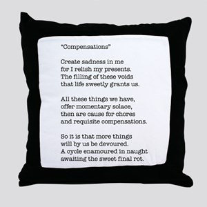 Compensations A Poem By Joe Monica Throw Pillow