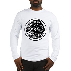 Bear & Fish Native American Design Long Sleeve T-S