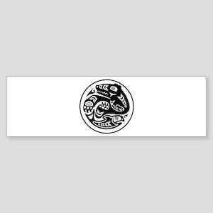 Bear & Fish Native American Design Sticker (Bumper