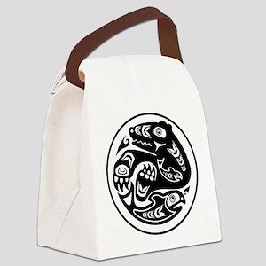 Bear & Fish Native American Design Canvas Lunch Ba