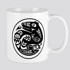 Bear & Fish Native American Design Mug