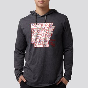 2-County Map - Color Mens Hooded Shirt
