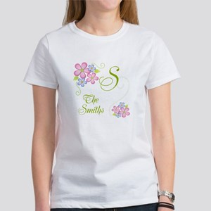 Pretty Flowers~ Custom Name Women's T-Shirt