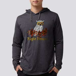 nightowl01 Mens Hooded Shirt