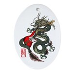 Dragon Bass 01 Ornament (Oval)