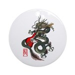 Dragon Bass 01 Ornament (Round)