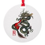 Dragon Bass 01 Round Ornament