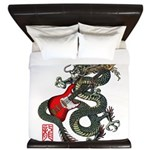 Dragon Bass 01 King Duvet