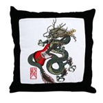 Dragon Bass 01 Throw Pillow