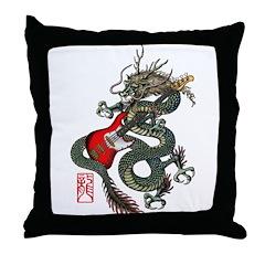 Dragon Bass 01 Throw Pillow