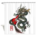 Dragon Bass 01 Shower Curtain