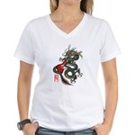 Dragon Bass 01 Women's V-Neck T-Shirt