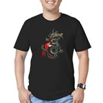 Dragon Bass 01 Men's Fitted T-Shirt (dark)