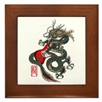 Dragon Bass 01 Framed Tile