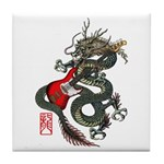 Dragon Bass 01 Tile Coaster