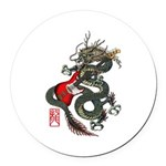 Dragon Bass 01 Round Car Magnet