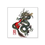 Dragon Bass 01 Square Sticker 3