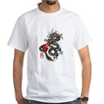 Dragon Bass 01 White T-Shirt