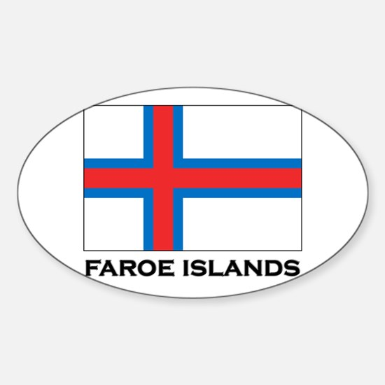 The Faroe Islands Flag Stuff Oval Decal