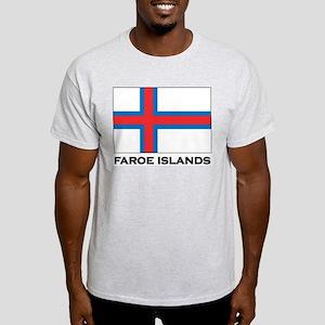 The Faroe Islands Flag Stuff Ash Grey T-Shirt