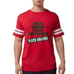voteobama_10x10.png Mens Football Shirt