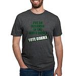 voteobama_10x10.png Mens Tri-blend T-Shirt